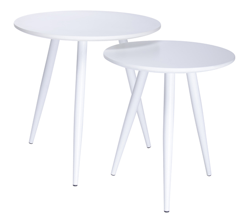 A set of LEO tables white - MDF, metal