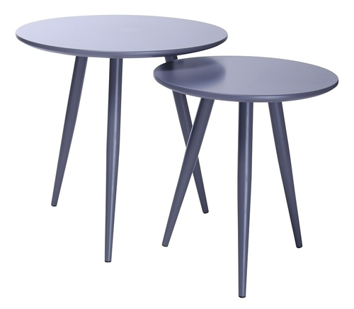 A set of tables LEO gray - MDF, metal