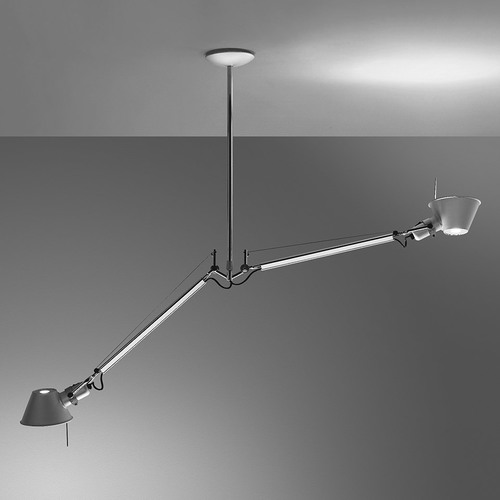 ARTEMIDE TOLOMEO DUE BRACCI SUSPENSION aluminum