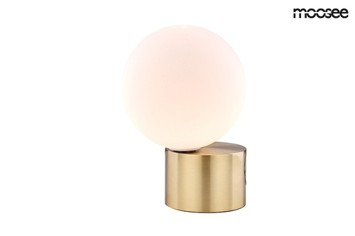 MOOSEE table lamp PARLA - golden base, white shade
