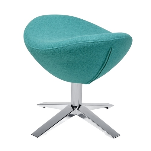 Footrest EGG WIDE turquoise. 12 - wool, steel