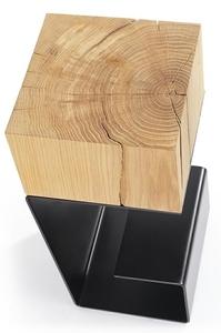 Black EGON table - oak top, metal base small 6