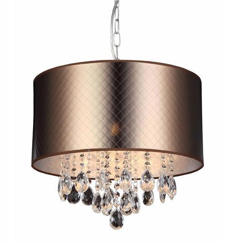 Brown Motan E14 pendant lamp, 3-bulb