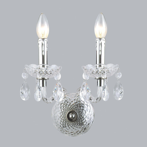 Classic Wall Lamp with Whiz E14 Crystals, 2-bulb