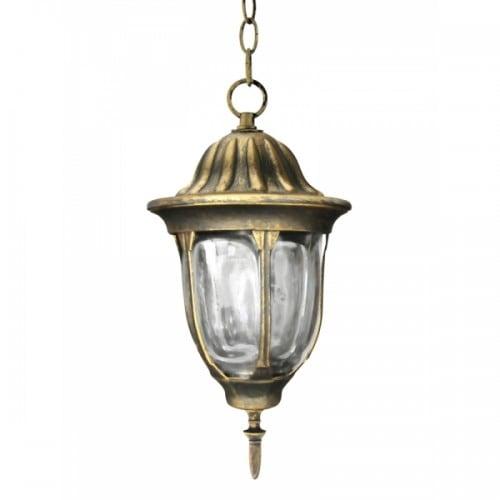 Hanging garden lamp POLUX FLORENCE patina