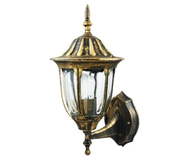 Garden sconce on a tag with a stained-glass window (36.5 cm) - FLORENCE
