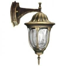 Garden sconce on a tag with a stained glass (36.5 cm) - FLORENCE