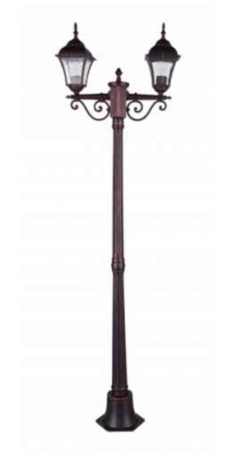 Garden lantern standing Odessa 2 Alu + 2 bulbs 175cm