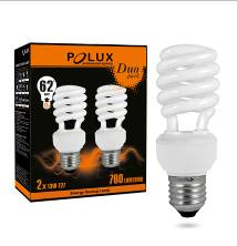 Energy saving light bulb PolUX Duopack T2 11W E27 2700K