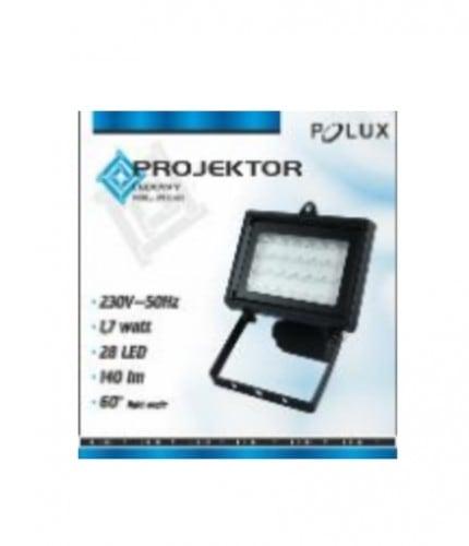 Projektor LED POLUX LP78B2W28 1 7W czarny