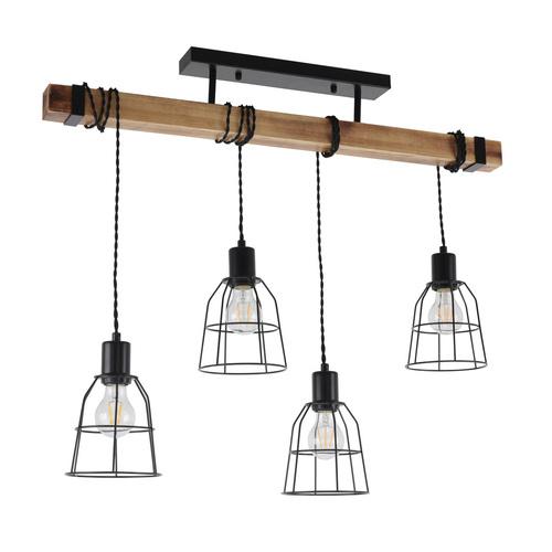 Black pendant lamp PONTE Italux PND-4290-4-L