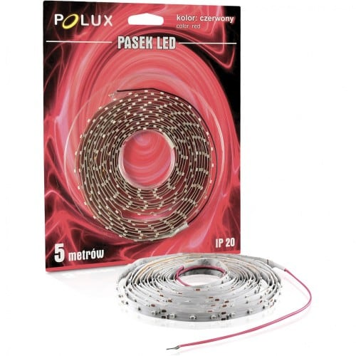 Polux LED strip 5m light color red IP20
