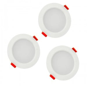 POLUX MIRO IO8XWWWH3-280 LED light fittings 3in1 white three pack small 1