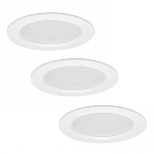 POLUX MIRO IO8XWWWH3-280 LED light fittings 3in1 white three pack