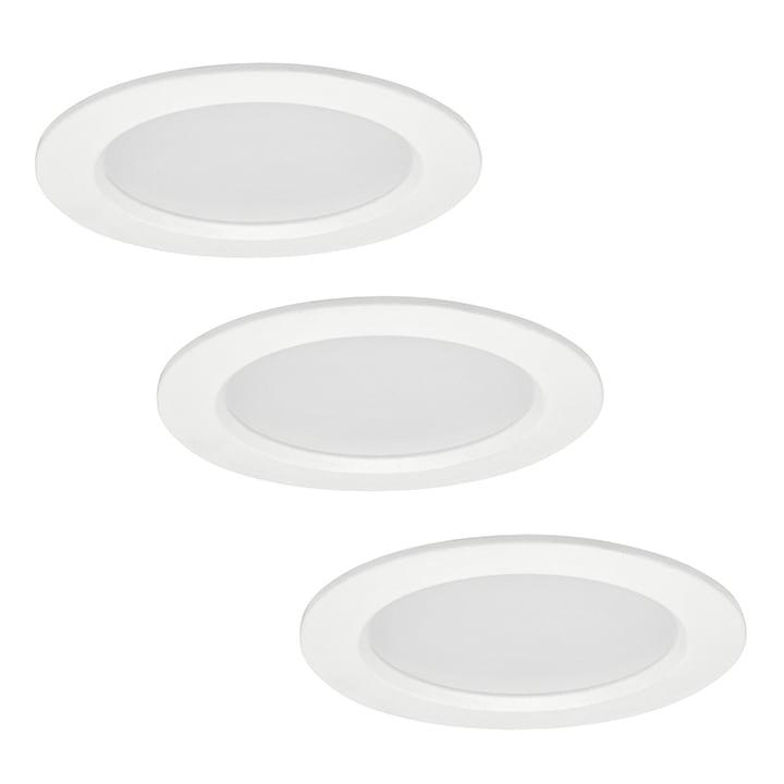 POLUX MIRO IO8XWWWH3-280 LED light fittings 3in1 white three pack