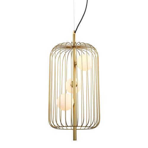 Gold Hayden G9 Hanging Lamp 3-bulb