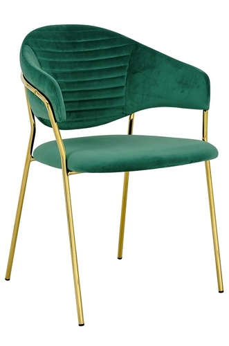 NAOMI green armchair - velor, gold base