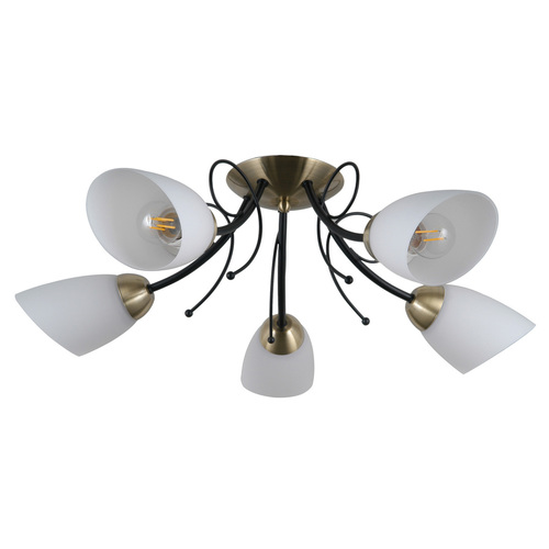 Classic Cristina E27 chandelier, 5-bulb