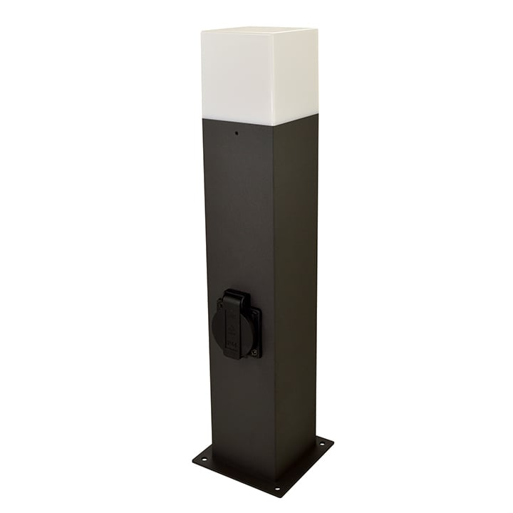Modern garden pole (44cm) - NEW YORK (1xE27 medium with socket)