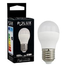 LED POLUX G45 E27 1: 1 SMDWW 480lm ceramic milk bulb