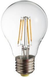 LED filament bulb POLUX A60 E27 650lm
