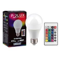 LED POLUX SMART A60 E27 SMDWW RGB 6W 470lm + Remote Control
