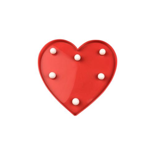 Red Plastic Led Heart