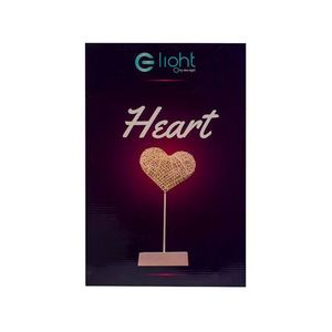 Plastic Heart Standing With Led Yarn small 3