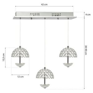 Crystal Pendant Lamp Venus 3 x 5 W Led small 5