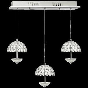 Crystal Pendant Lamp Venus 3 x 5 W Led small 6