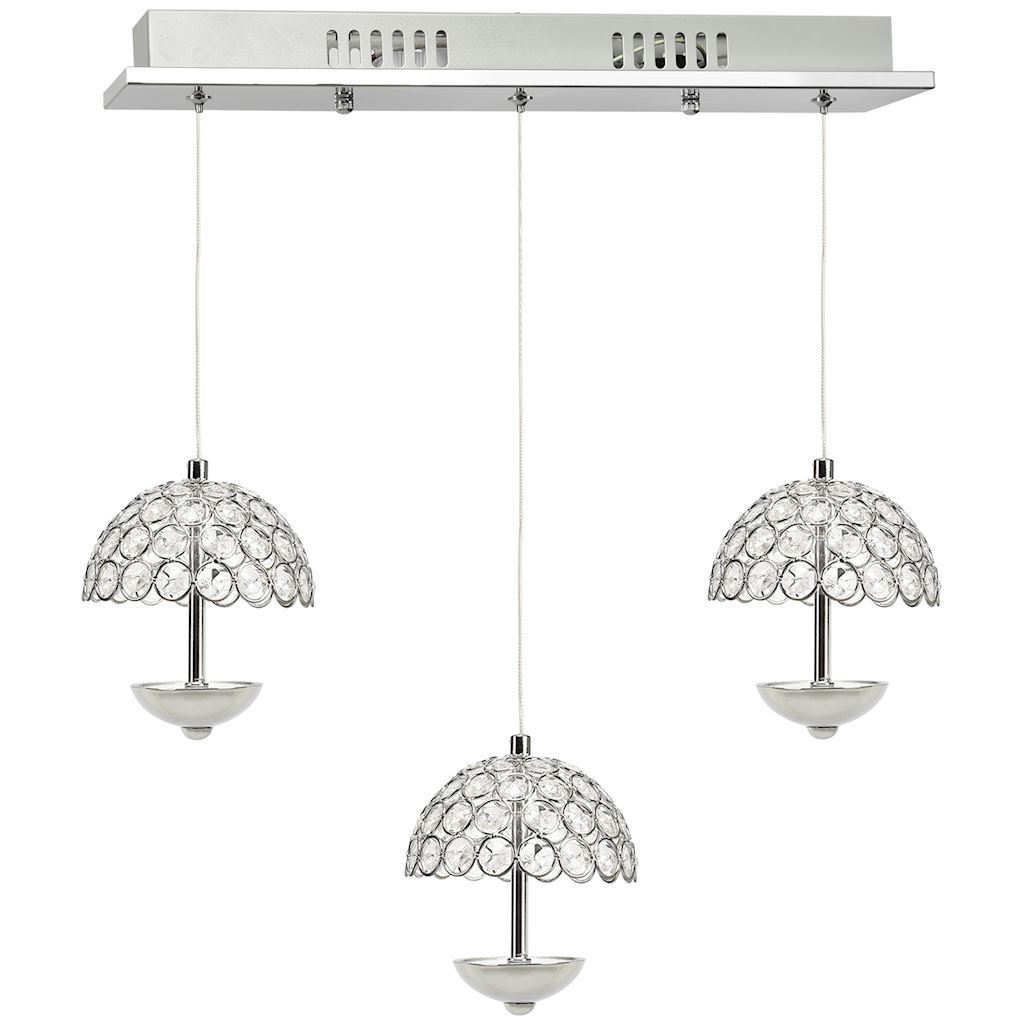 Crystal Pendant Lamp Venus 3 x 5 W Led