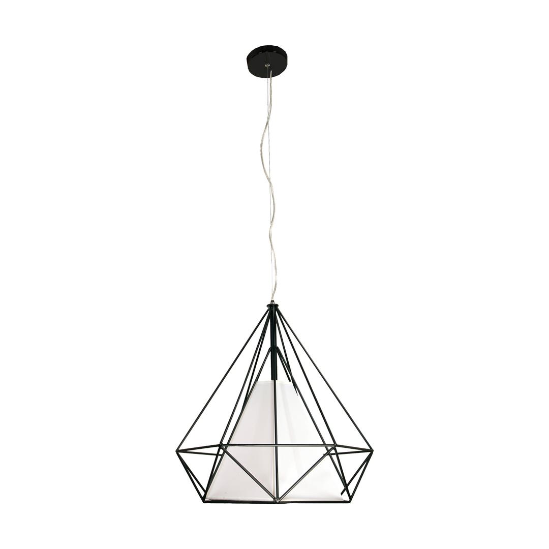 Black Triangolo 1x E27 Hanging Lamp