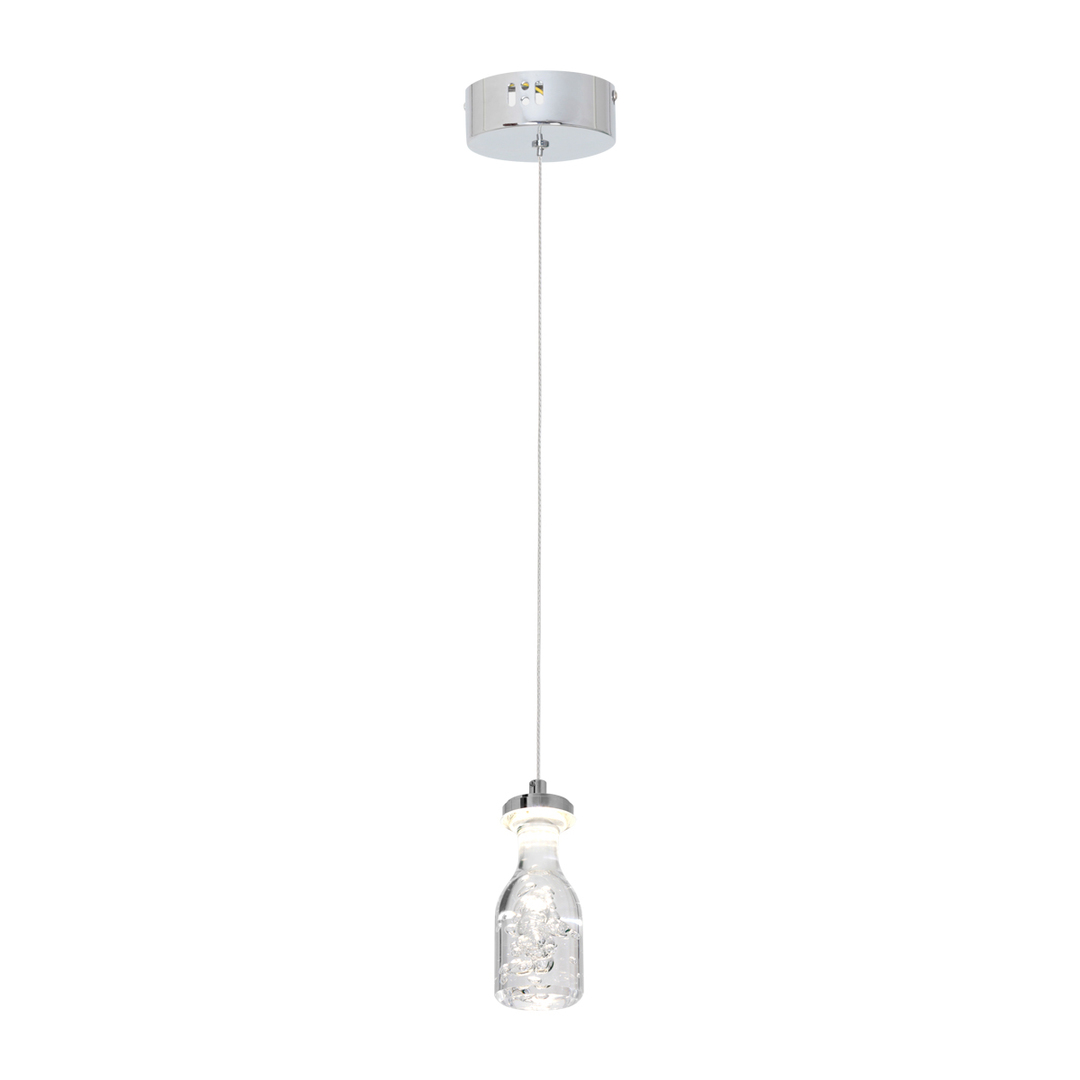 Chrome Bottle Pendant Lamp 1x5 W Led