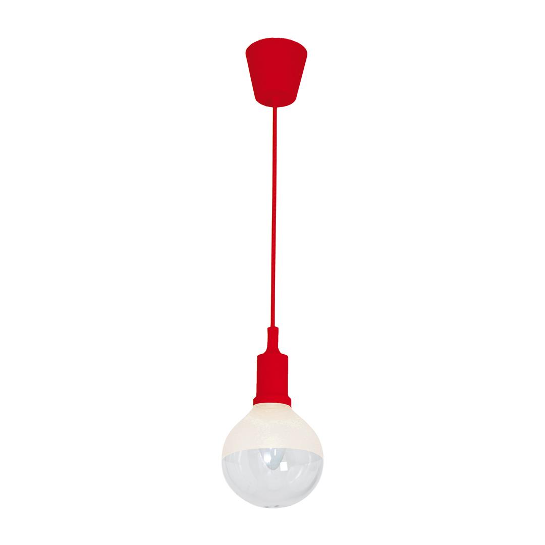 Pendant lamp Bubble Red 5 W E14 Led Red