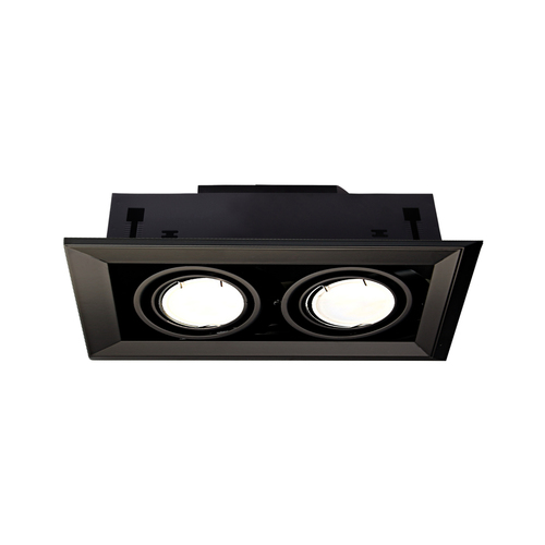 Black Concealed Lamp Blocco Black 2x7 W Gu10 Led