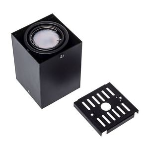 Black 1x7 W Gu10 Led Ceiling Lamp Blocco small 4