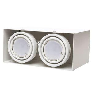 White Ceiling Lamp Blocco 2x7 W Gu10 Led small 1