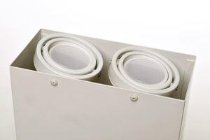 White Ceiling Lamp Blocco 2x7 W Gu10 Led small 3