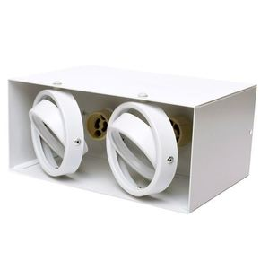 White Ceiling Lamp Blocco 2x7 W Gu10 Led small 6