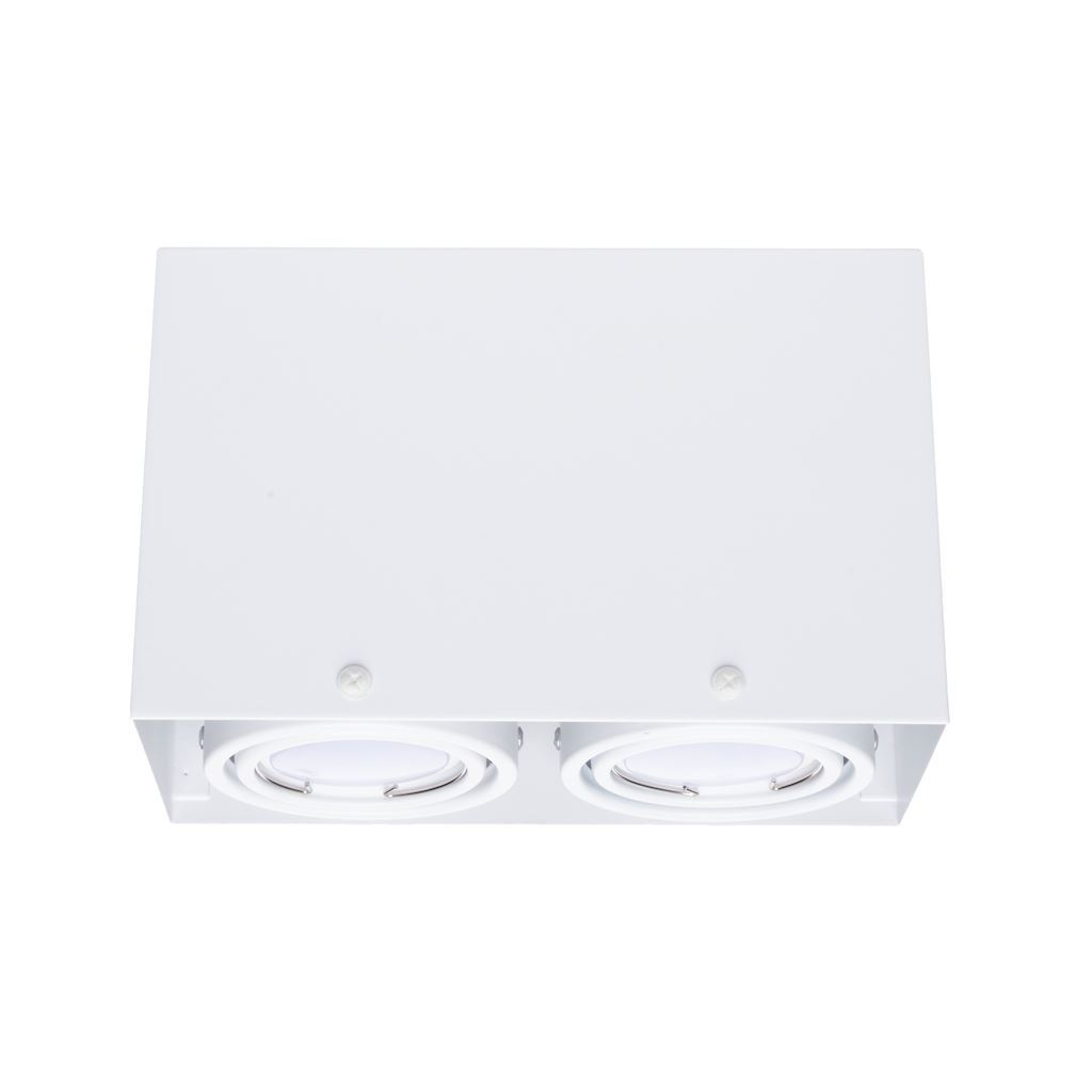 White Ceiling Lamp Blocco 2x7 W Gu10 Led