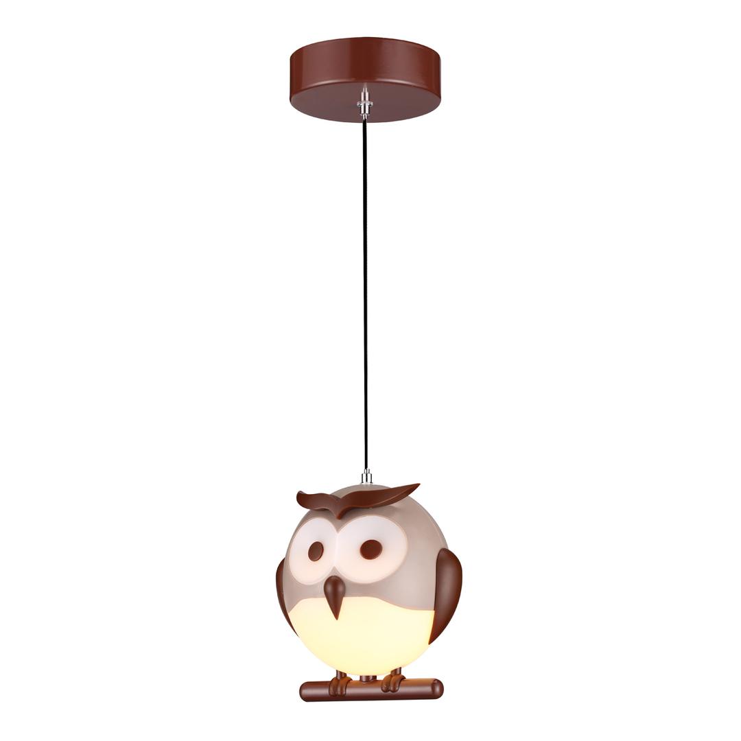 1 Xe14 Led Multicolor Owl Pendant Lamp