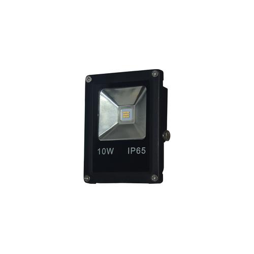 Black 10W LED floodlight. Color: 6000K IP65