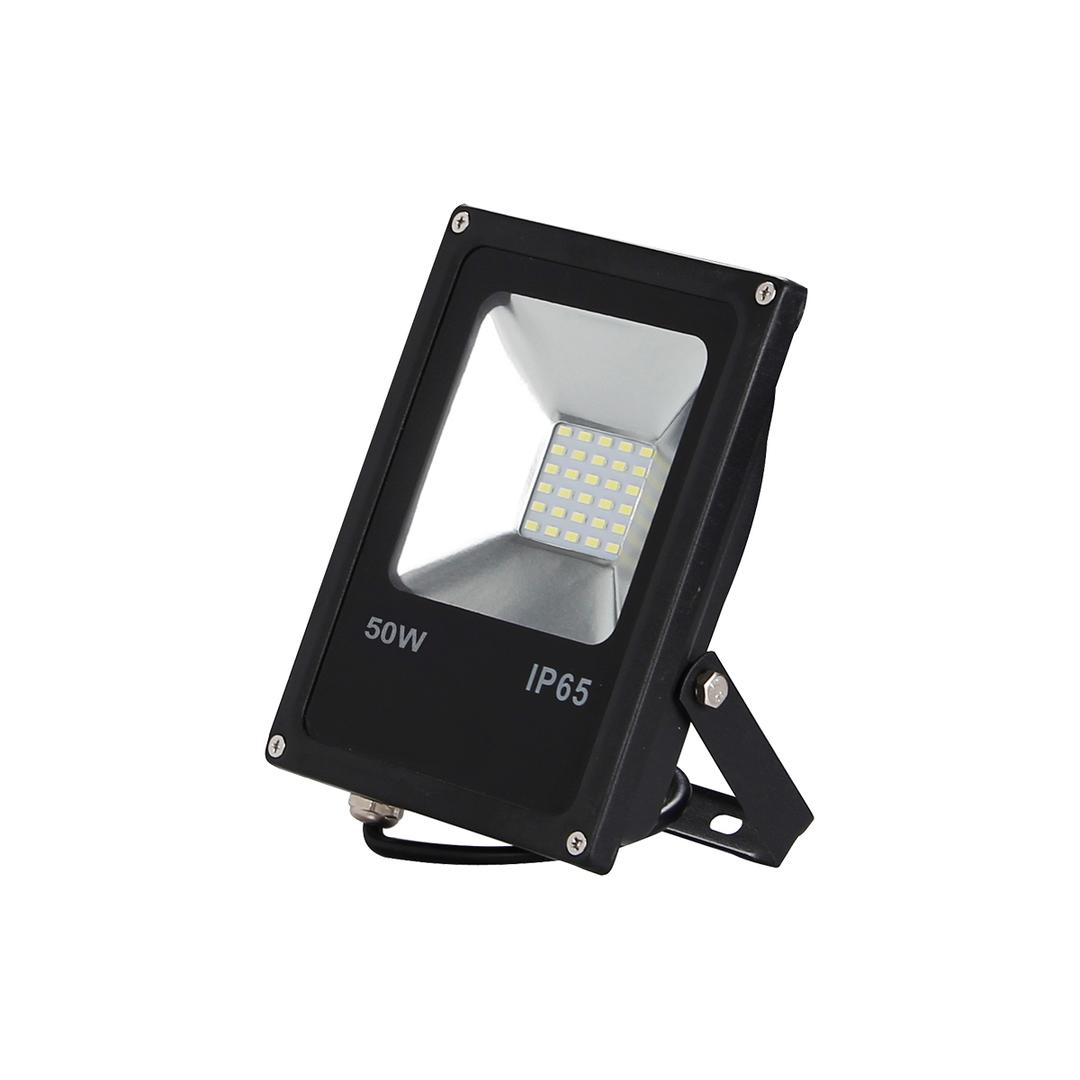 Black LED floodlight 50W. Color: 6000K IP65