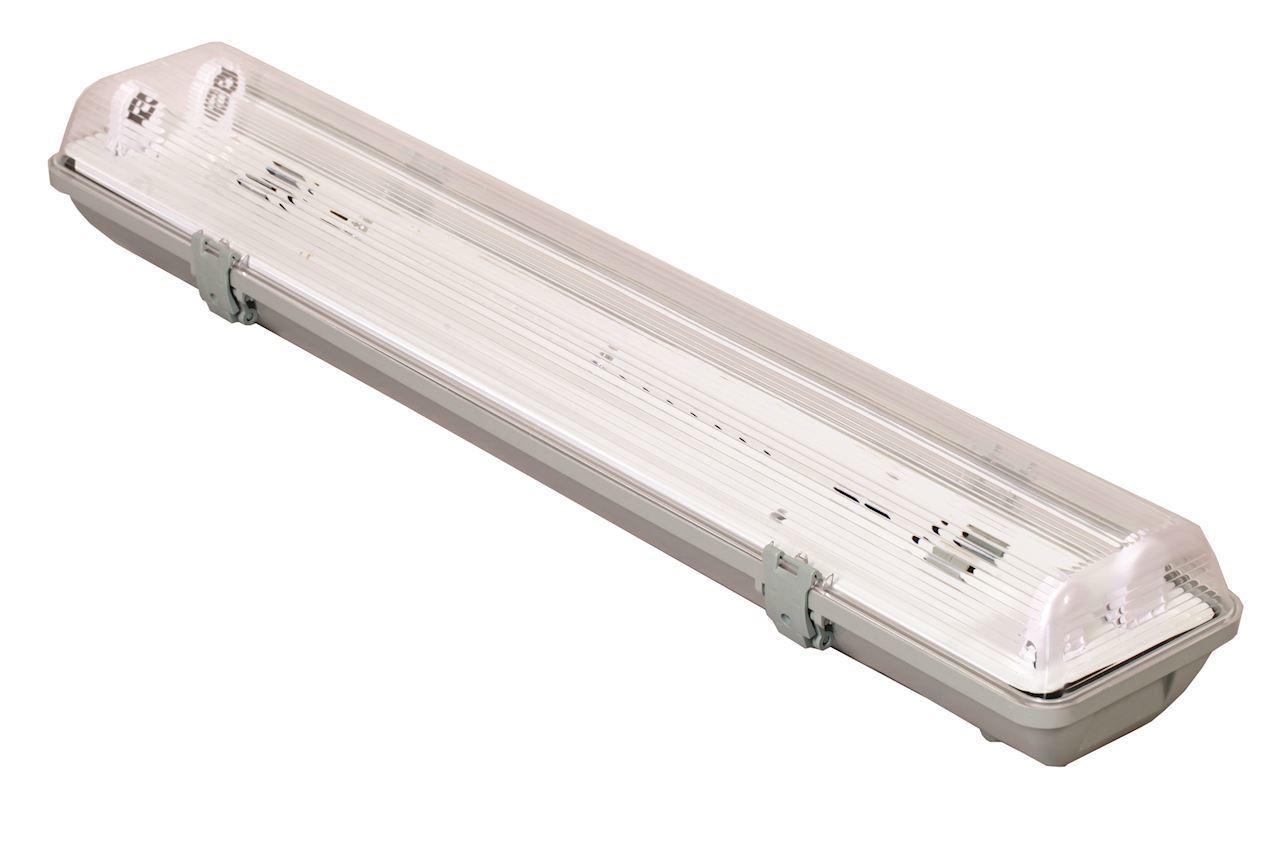 Hermetic lighting fitting 2x18 W Elektronik IP65