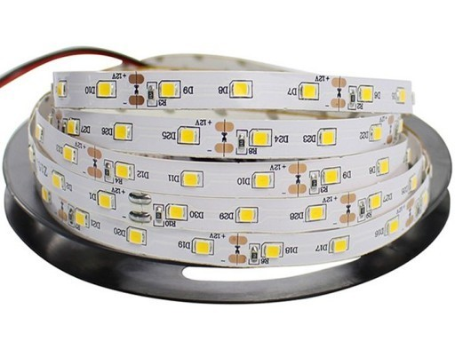 2.5m 60 Led tape. 12 W. Color: Warm White. Ip20