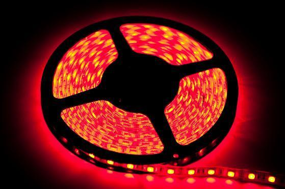 2.5m 60 Led tape. 12 W. Color: Red. Ip20