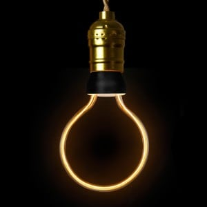 Decorative LED bulb ART Globe, 8 W, E27 small 1