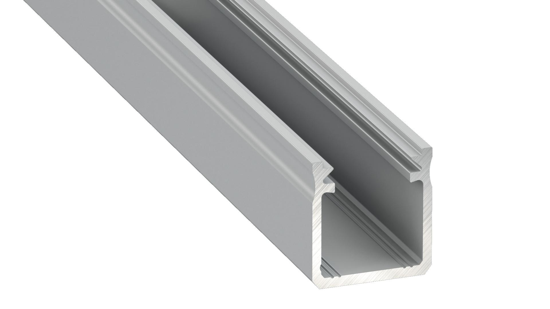 Aluminum profile, silver, type Y 2m + opal diffuser