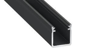 Black aluminum profile, type Y 1m + opal diffuser small 0