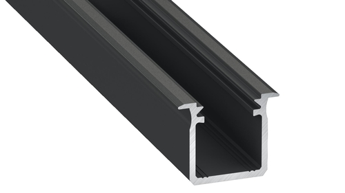 Type G Black Aluminum Profile 1m + Milk Shade